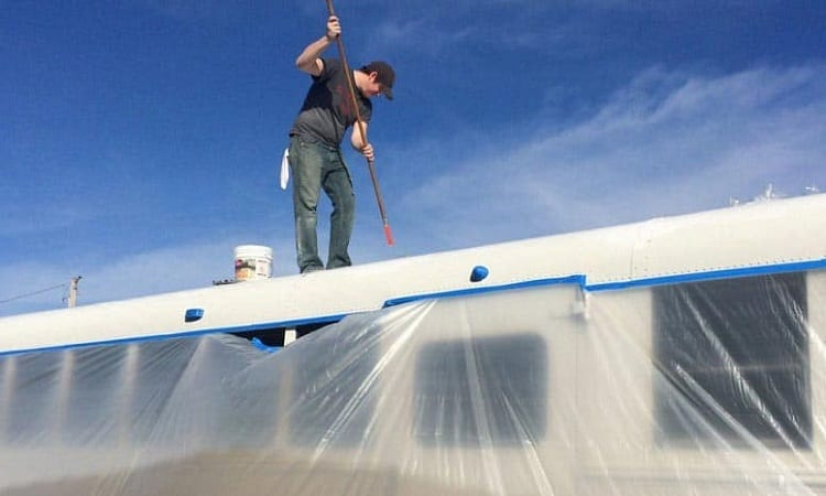 WHAT IS THE BEST WAY TO SEAL A RV ROOF?