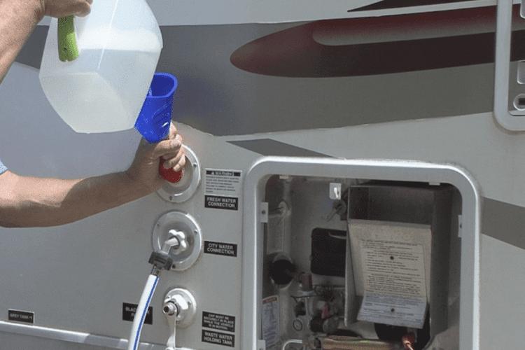 Sanitizing The Tank