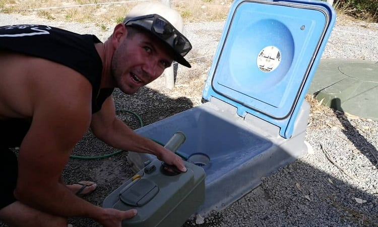 HOW DO YOU EMPTY AN RV TOILET?